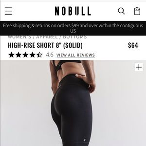 """Nobull high-rise 8"""" shorts"""
